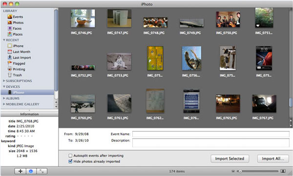how to unload photos from ipad to mac with photos app