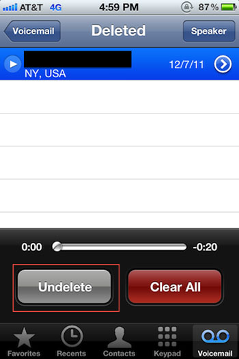 Free Way to Recover Deleted Voicemail on iPhone X/8 Plus/8 ...