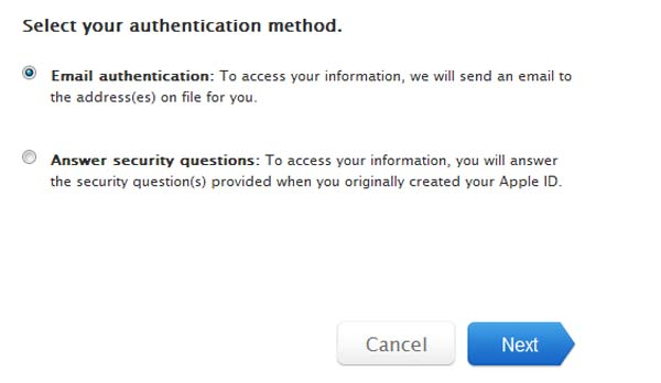 how to change icloud user id and password