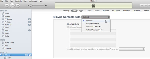 how can i sync iphone contacts with outlook easily